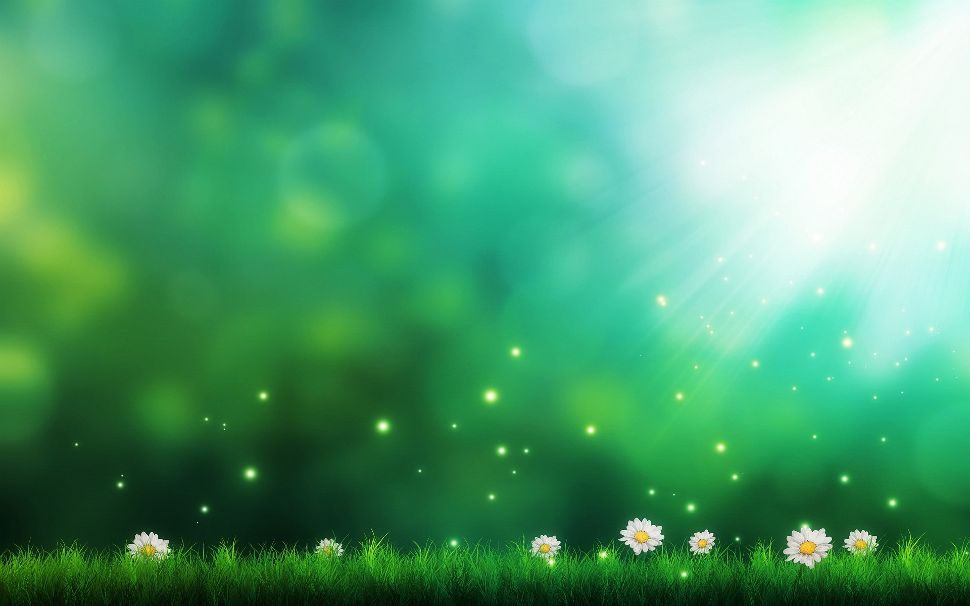 Plain Wallpapers HD green flowers