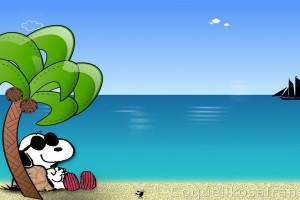 Snoopy Wallpapers HD chilling beach