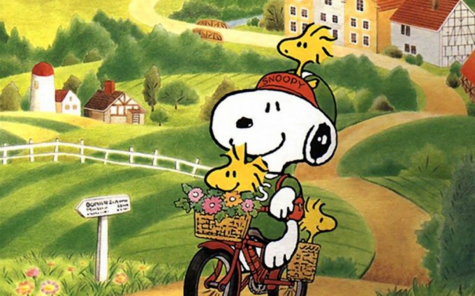 Snoopy Wallpapers HD cycling