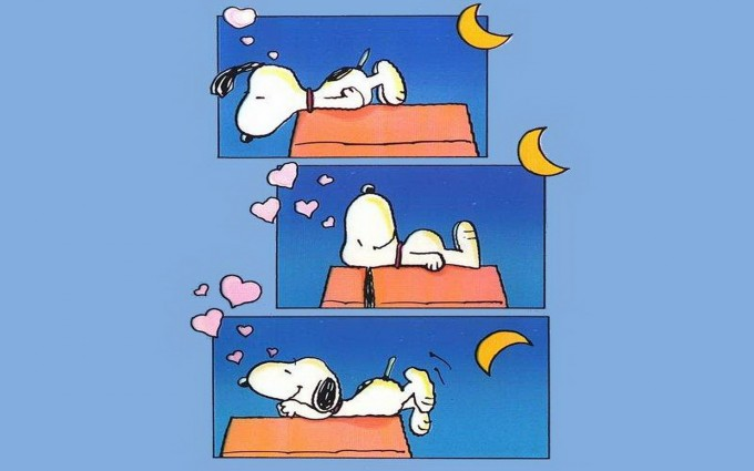 Snoopy Wallpapers HD night sleep