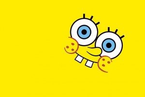 SpongeBob SquarePants wallpapers HD yellow background smile tooth