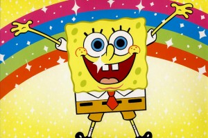 SpongeBob SquarePants wallpapers HD happy rainbow