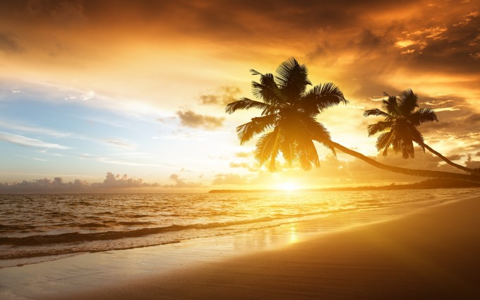 Sunset Wallpapers HD beach romantic