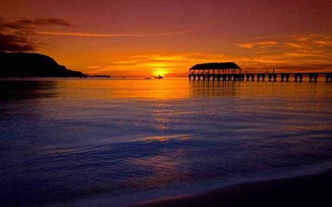 beach sunset wallpapers HD