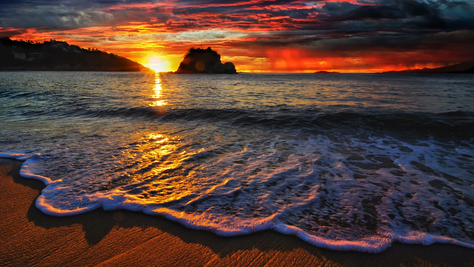 Sunset Wallpapers HD sea shore beach