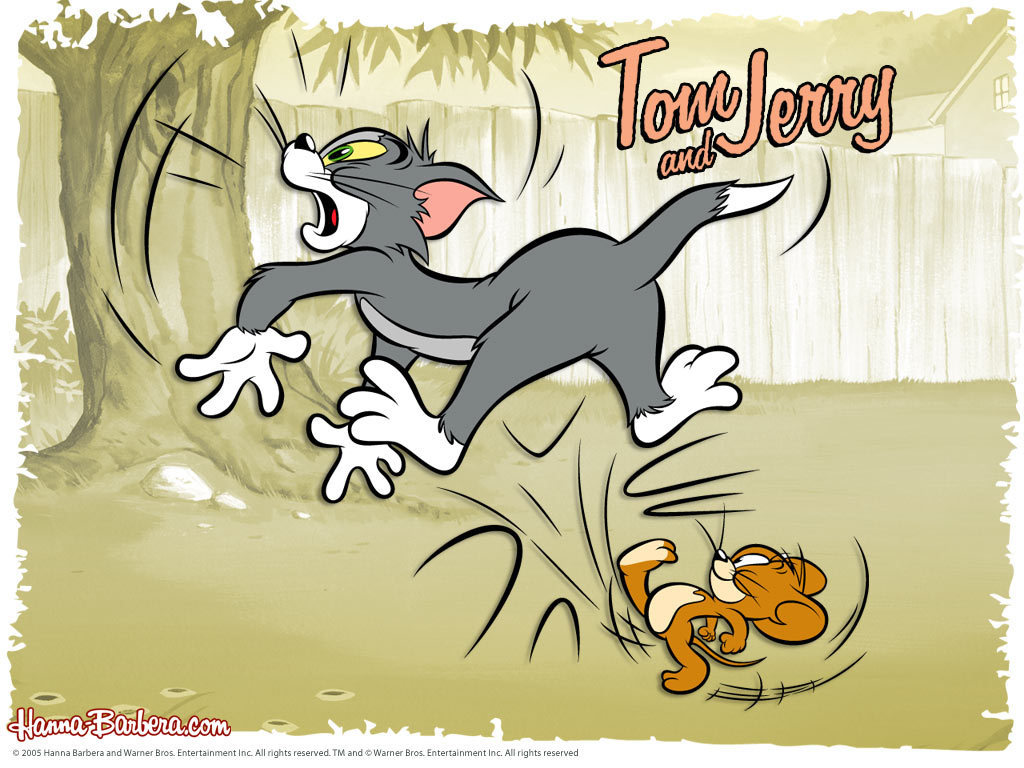 Tom and Jerry Wallpapers running kick