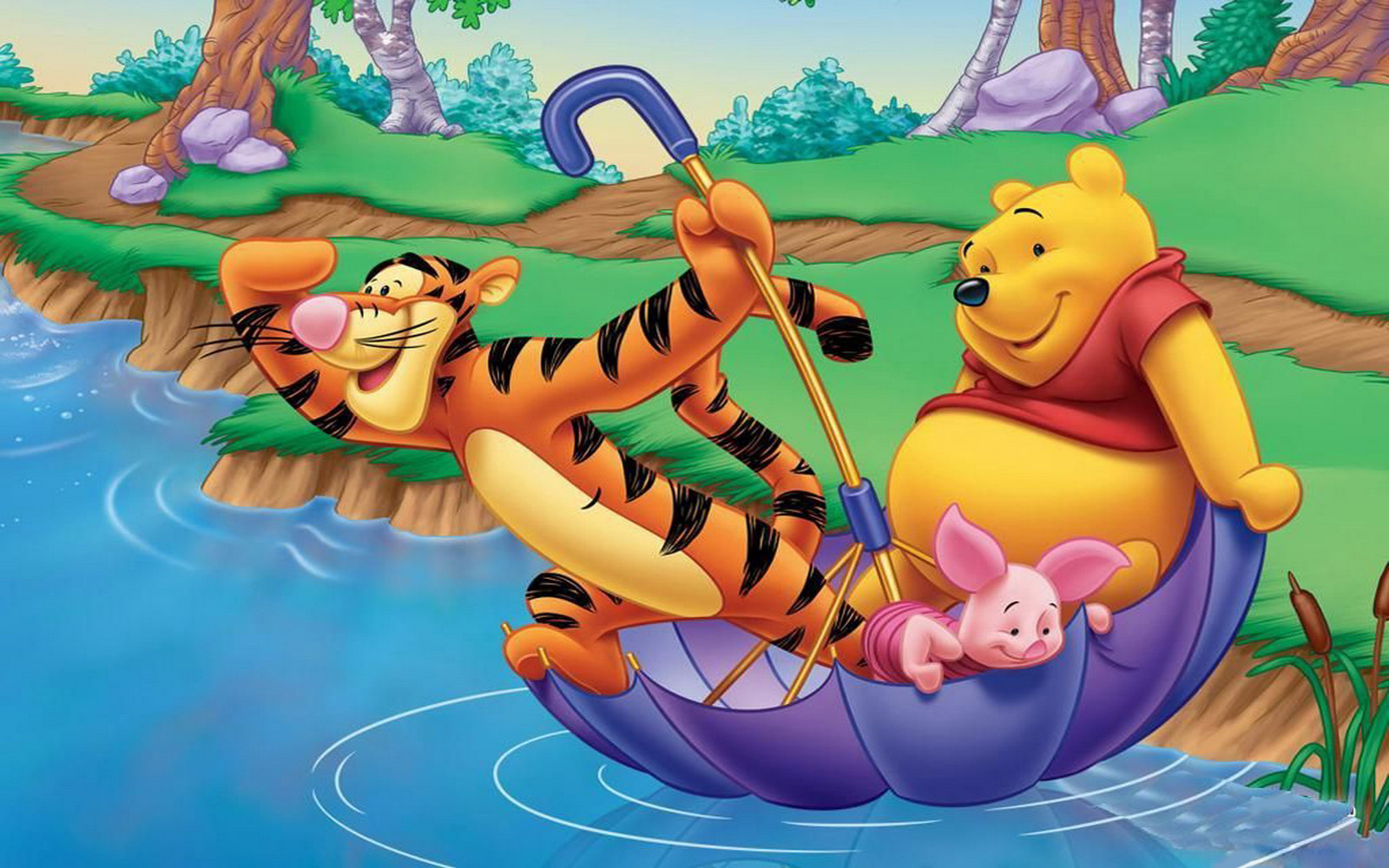 Winnie The Pooh Wallpapers HD river lake