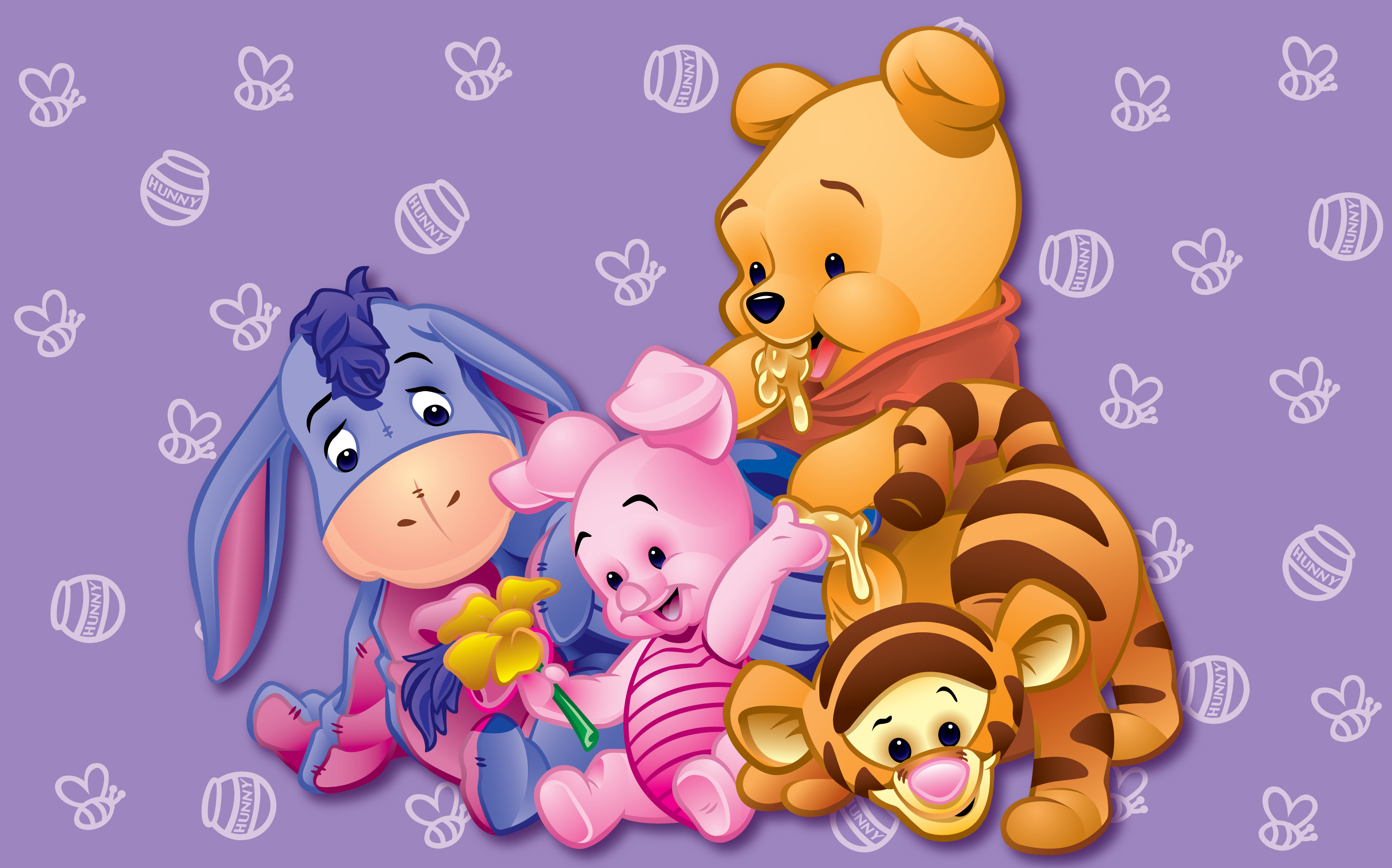 Winnie The Pooh Wallpapers HD purple background