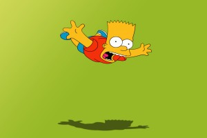 bart simpson wallpaper green