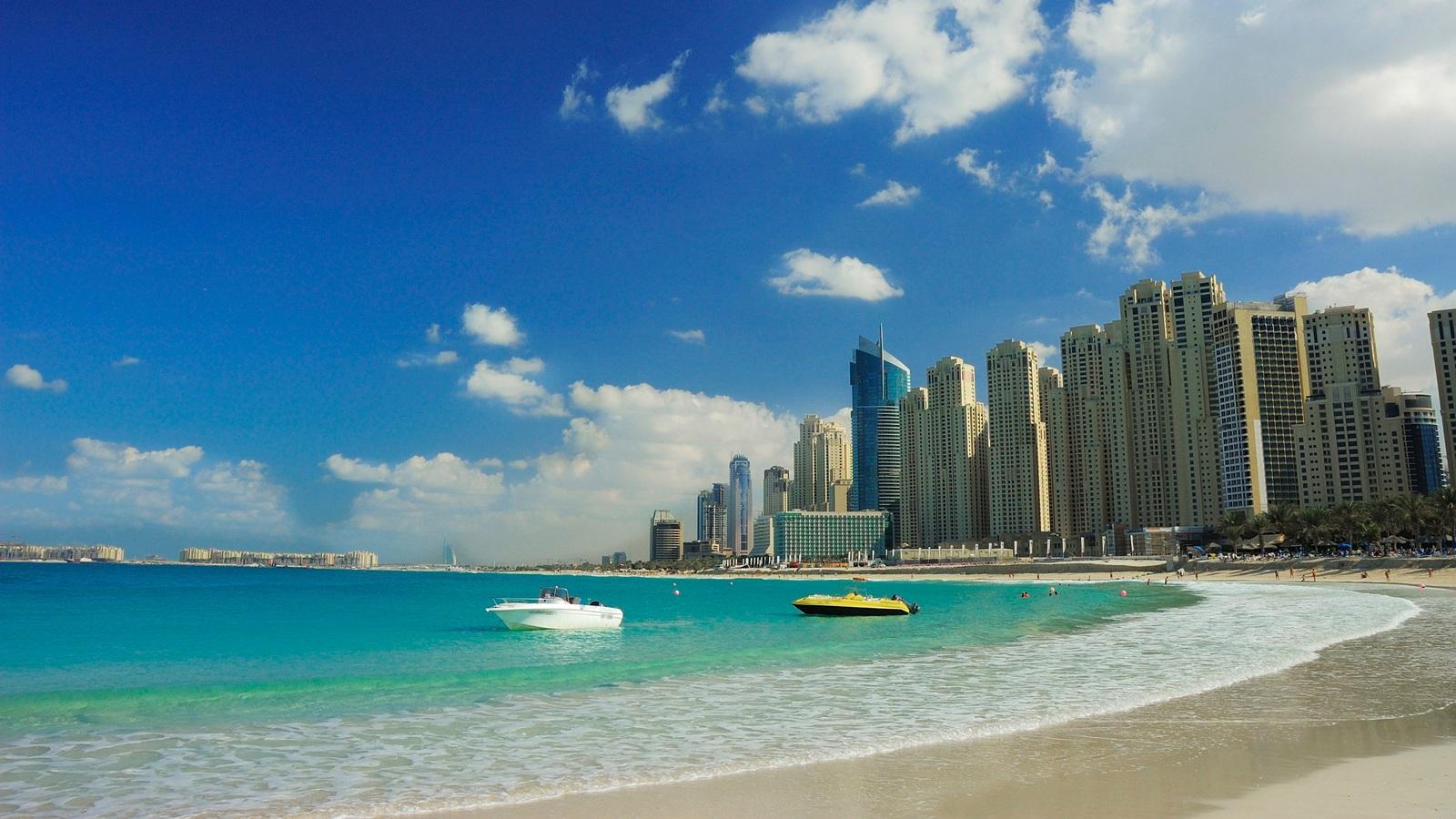 beach scene wallpaper Jumeirah