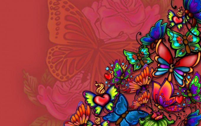 butterfly wall paper tatoo
