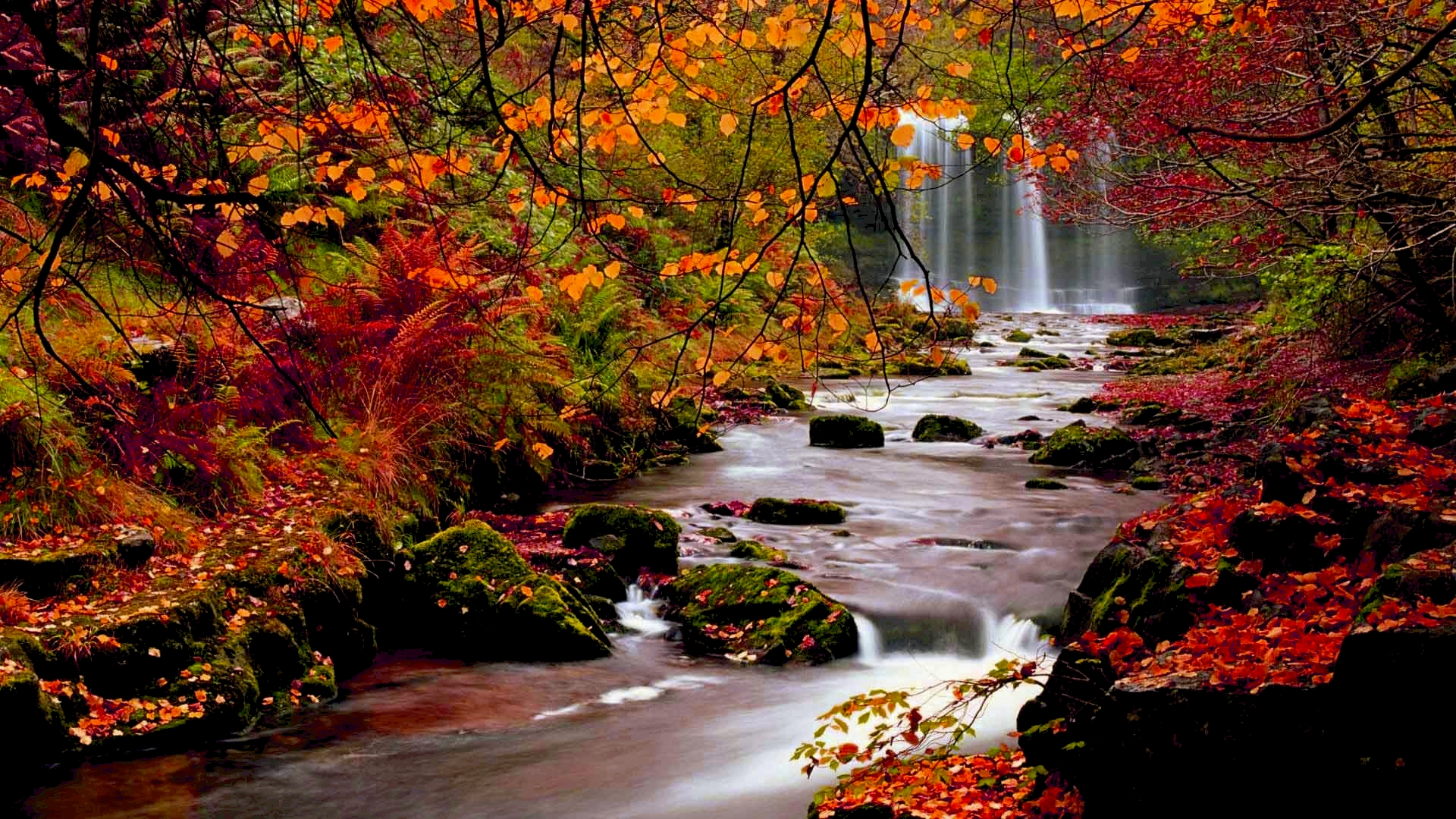 fall wallpapers waterfalls
