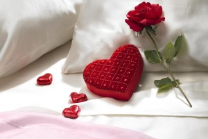 heart wallpapers bed rose