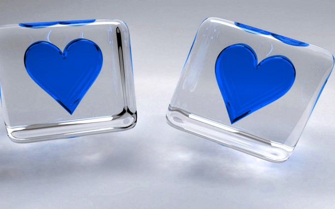 heart wallpapers crystal blue