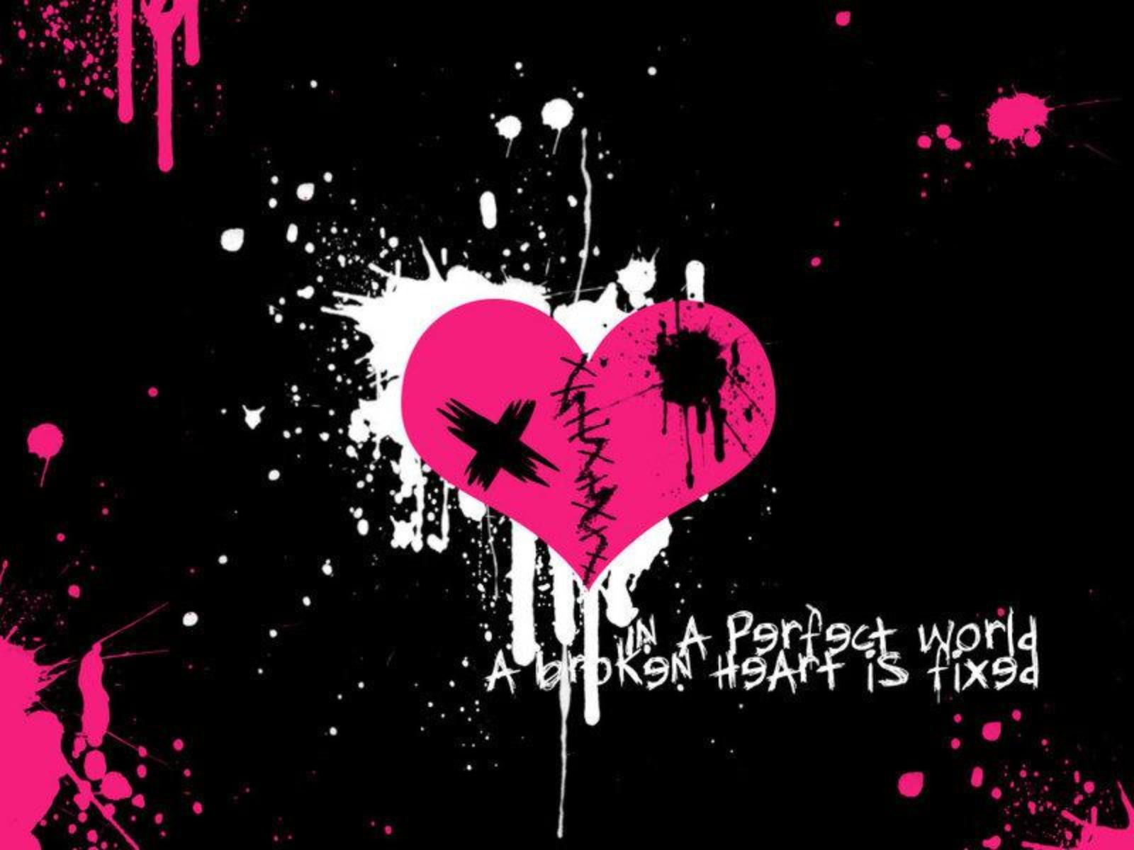 Hd Wallpaper Emo Love couple : heart wallpapers emo - HD Desktop Wallpapers 4k HD