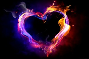 heart wallpapers fire