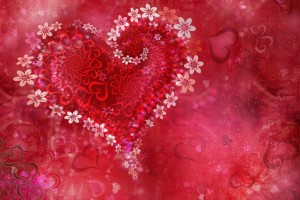 heart wallpapers flowers background
