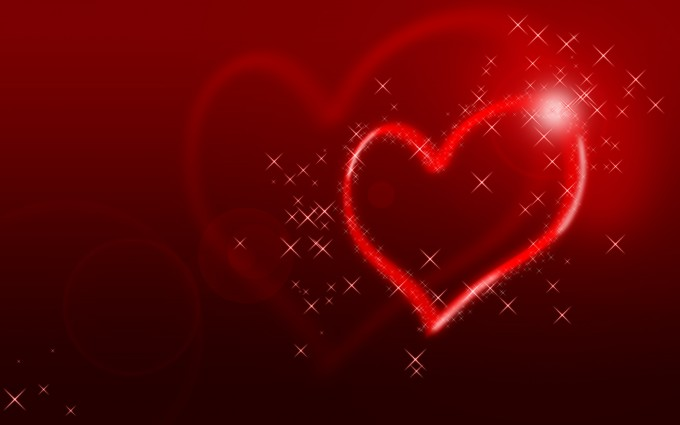 heart wallpapers glittering