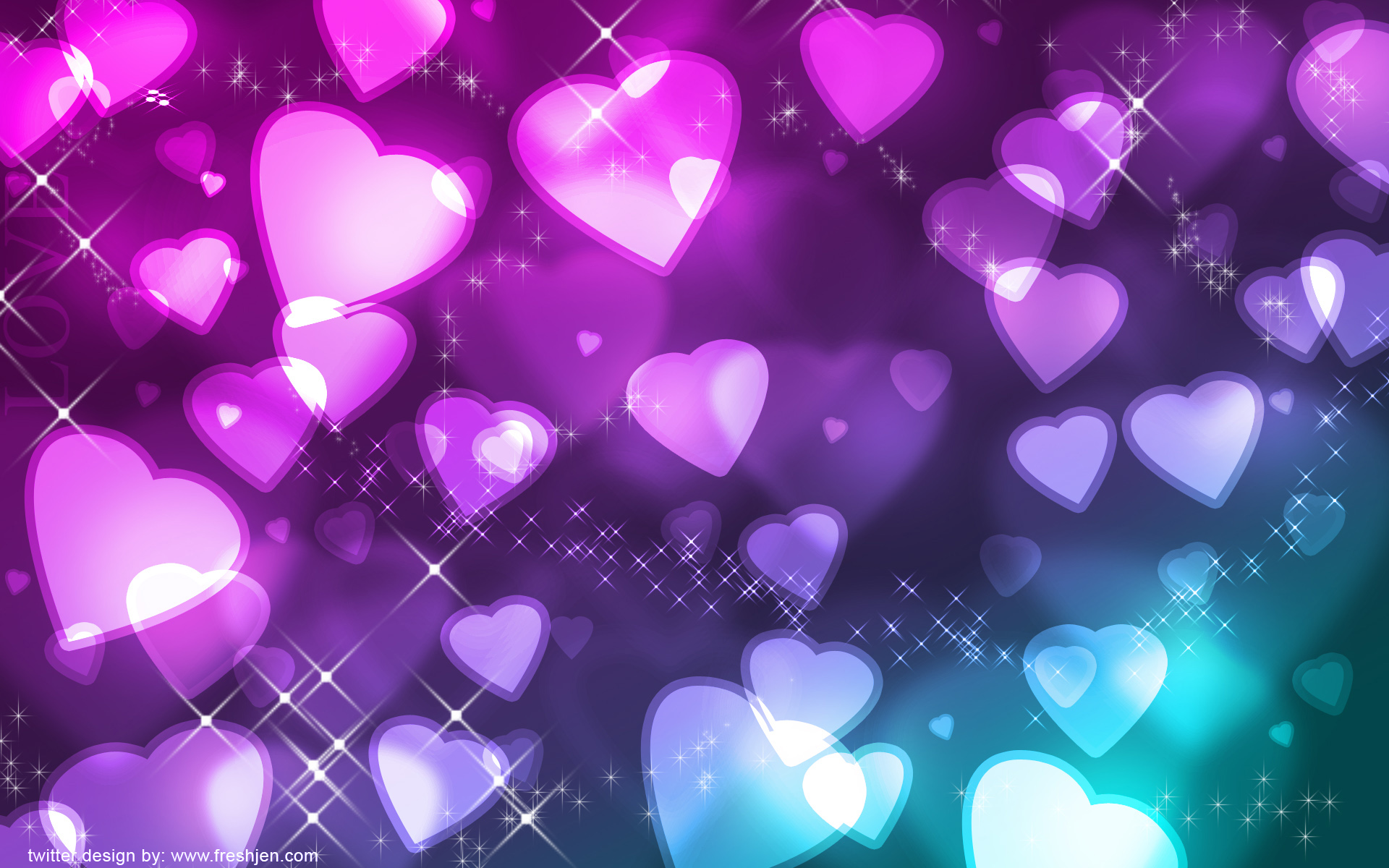 heart wallpapers glowing