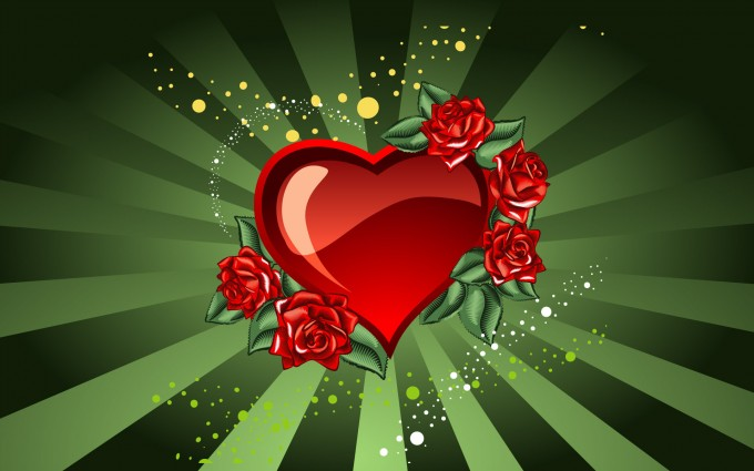 heart wallpapers green