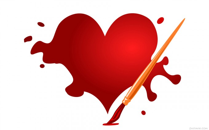 heart wallpapers paint
