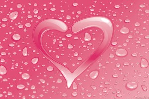 heart wallpapers pink drops