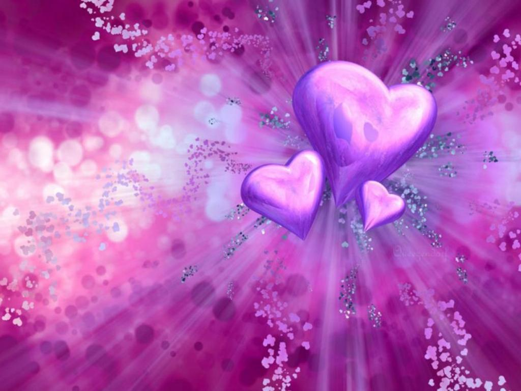 heart wallpapers purple