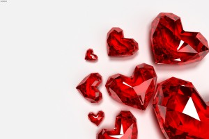 heart wallpapers red crystals
