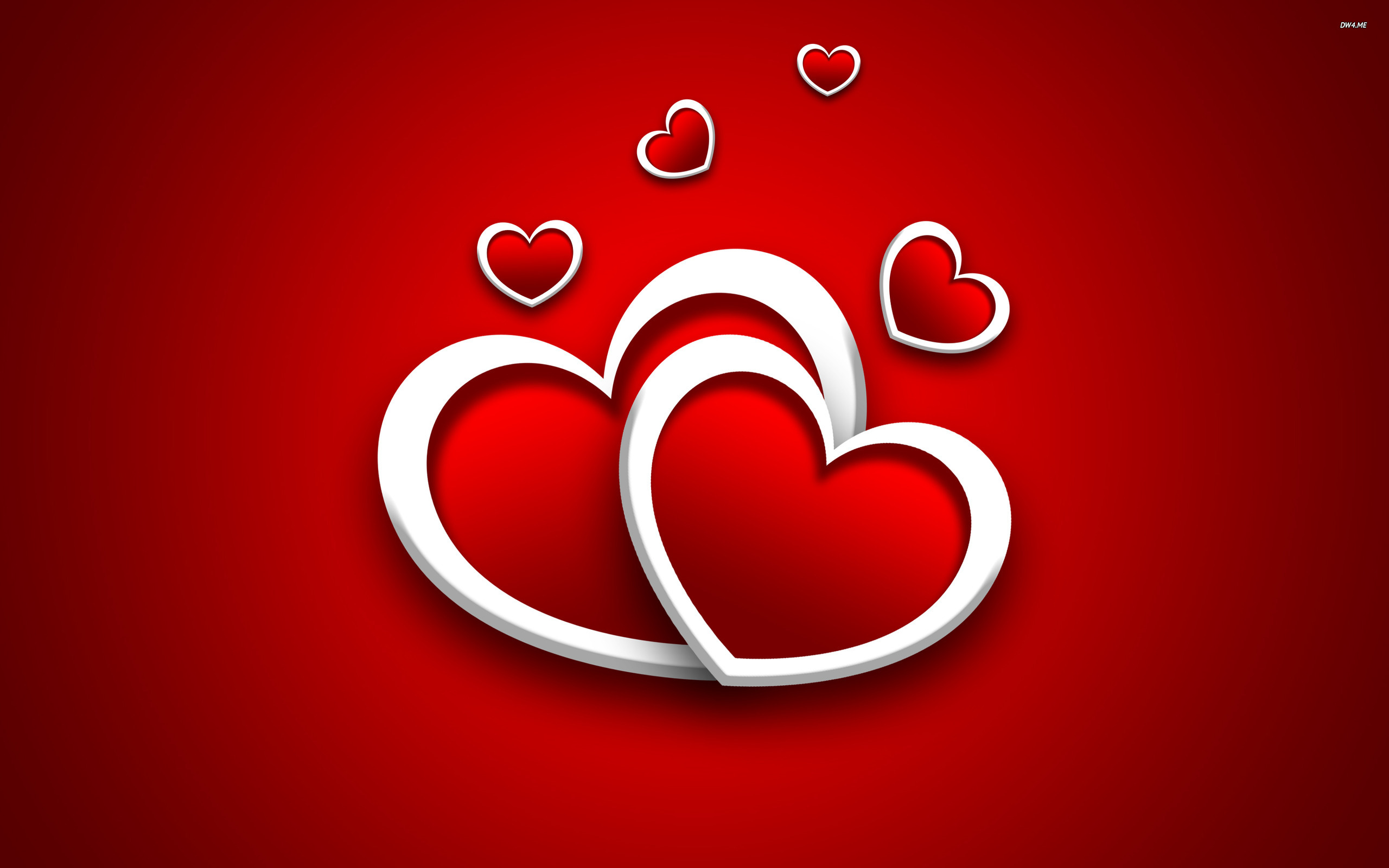 heart wallpapers red