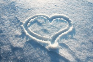 heart wallpapers snow