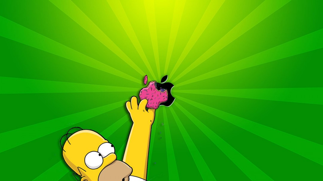 Homer Simpson Apple Wallpaper