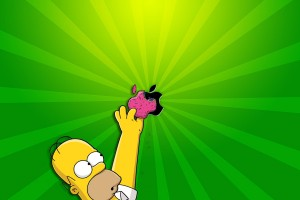 homer simpson apple wallpaper
