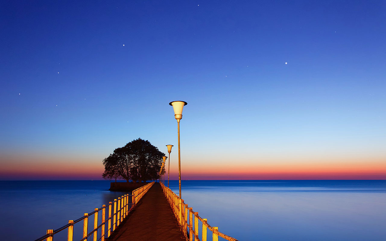 landscape wallpaper beach bridge