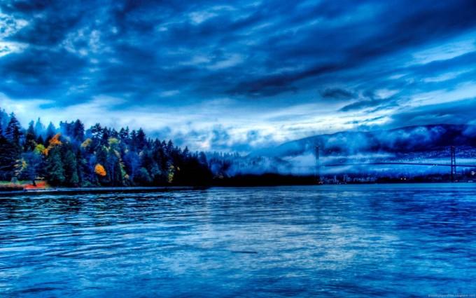 landscape wallpaper blue