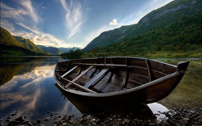 landscape wallpaper boat