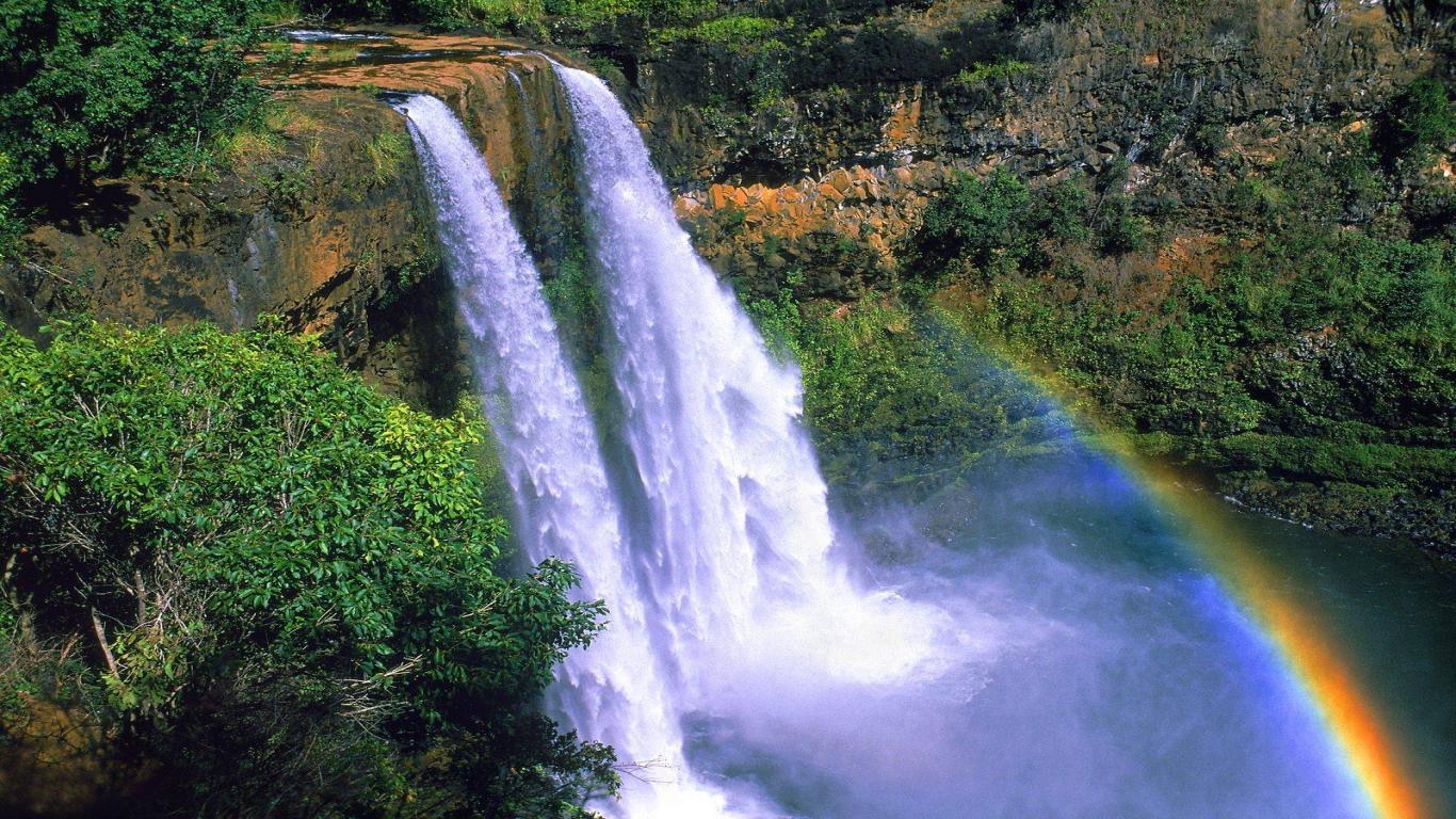 landscape wallpaper falls