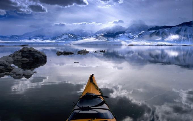 landscape wallpaper kayaking