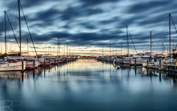 Landscape photo of boats in Tauranga Bridge Marina, Mount Maunganui