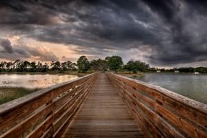 landscape wallpaper river bridge