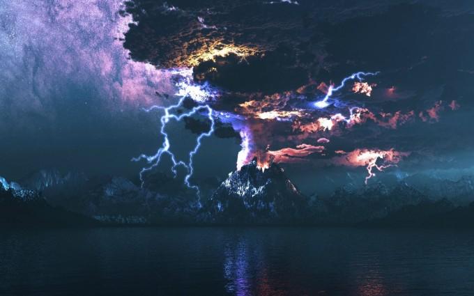 landscape wallpaper thunder