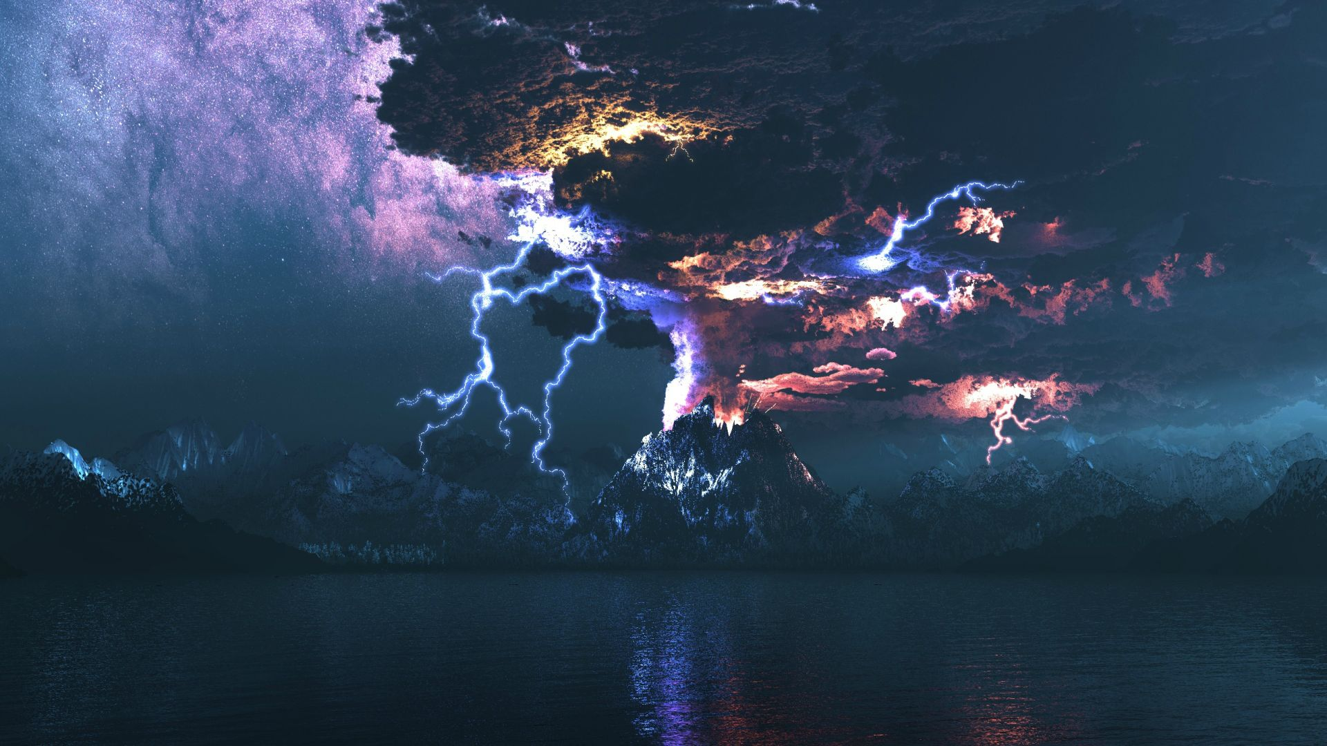 landscape wallpaper thunder