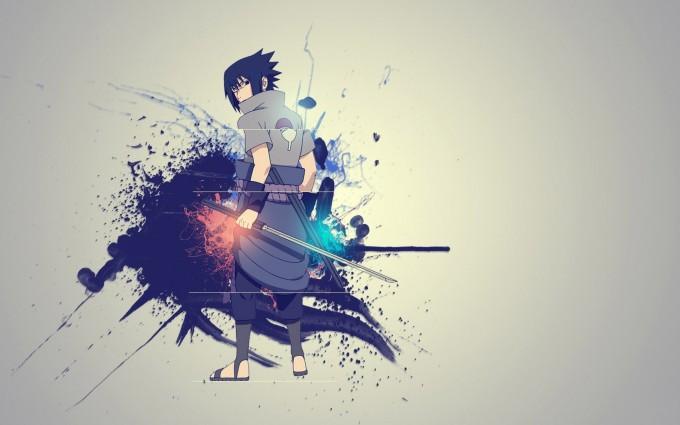 A43 Naruto anime Sasuke Uchiha HD Desktop background wallpapers downloads
