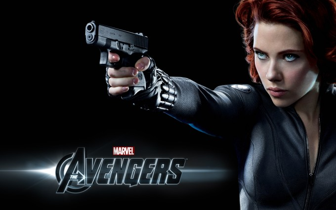 scarlett johansson wallpapers HD avengers gun