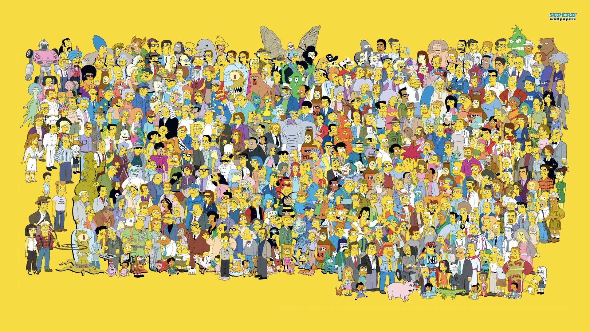 simpsons characters wallpaper
