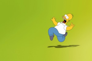 simpsons wallpaper background green