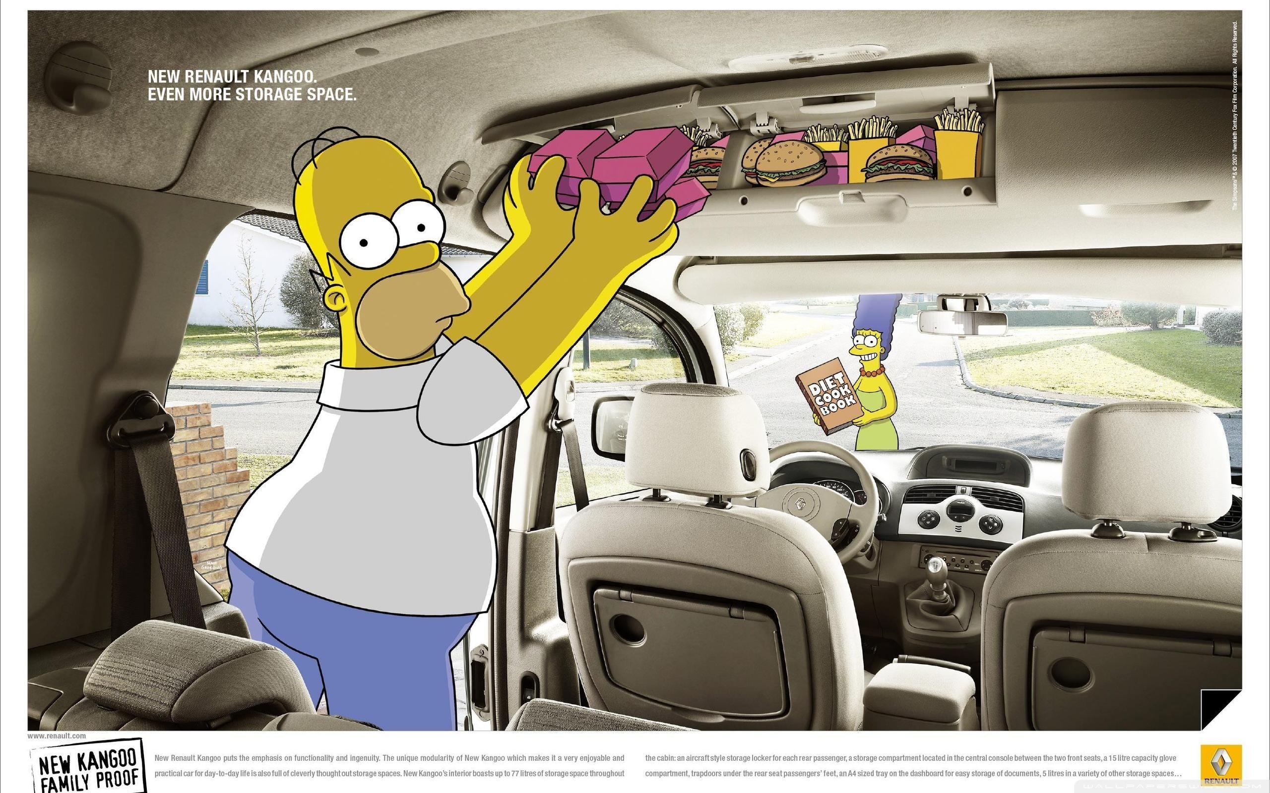 simpsons wallpaper homer car