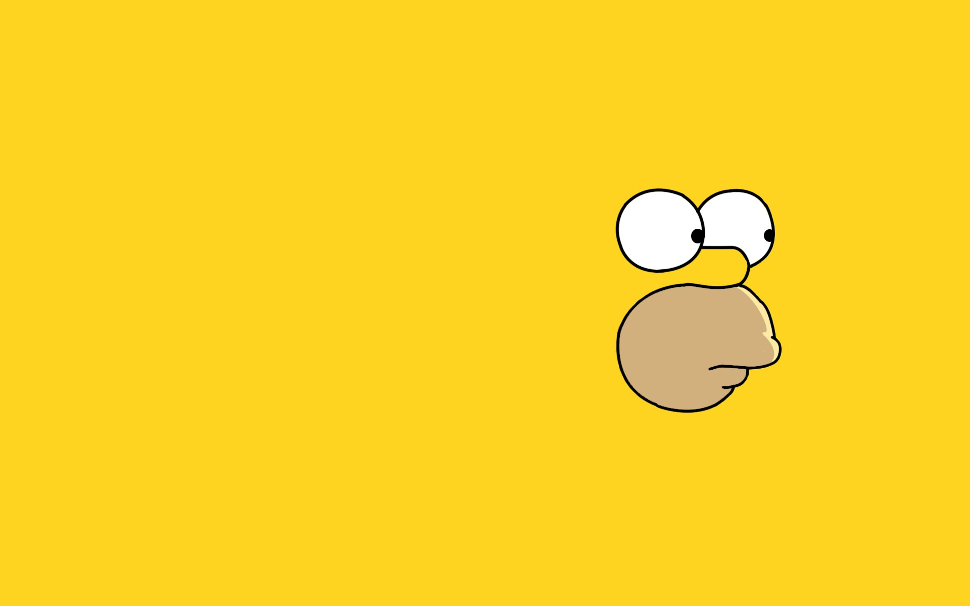 simpsons wallpaper yellow