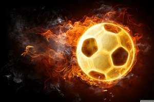 soccer ball wallpaper fire