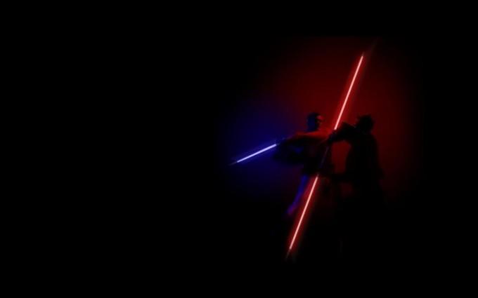star wars images laser fight