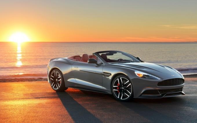 Aston Martin Vanquish Wallpapers sunset